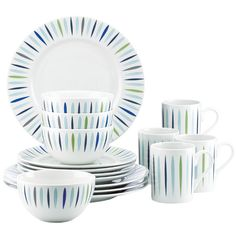 Found it at Wayfair - The Burbs Starburst 16 Piece Dinnerware Set