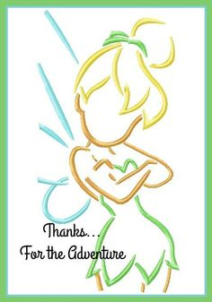 Tinker Bell Sketch with Autograph Combo Digital Embroidery Machine Design File by on Etsy Machine Embroidery Applique, Diy Embroidery, Pintar Disney, Disney Silhouette Art, Disney Canvas Paintings, Disney Quilt, Fairy Tales For Kids, Quilling Patterns, Quilling Designs