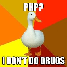 Technologically impaired duck. #funny #memes #PHP #programming