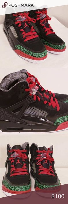 022b9910daa Nike Air Jordan Spizike Black Green White Red OG C Nike Air Jordan Spizike  Black Green White Red OG Color Brand New without box Size 9 Men's Jordan  Shoes ...