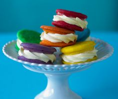 Colourful #Rainbow Whoopie Pies #CakeDecorating #Issue4