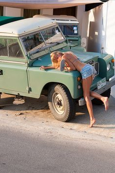 She's leaving the country and can't take the Land Rover with her. That's why she's sad. Nothing else.