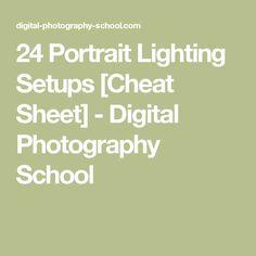 24 Portrait Lighting Setups [Cheat Sheet] - Digital Photography School