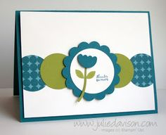 Julie's Stamping Spot -- Stampin' Up! Project Ideas Posted Daily. Mitten builder punch