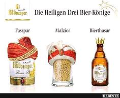 Die Heiligen Drei Bier-Könige.. | Lustige Bilder, Sprüche, Witze, echt lustig
