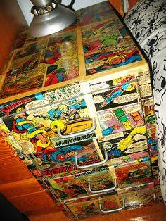 Comic+Bedside+Table+#howto+#tutorial