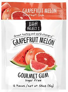 Project 7 Grapefruit Melon Gourmet Gum, oz 1 Pack for sale online Hcg Diet Recipes, Gourmet Recipes, Snack Recipes, Snacks, Dessert Recipes, Chewing Gum Facts, Chewing Gum Brands, Gum Flavors, Hi Chew