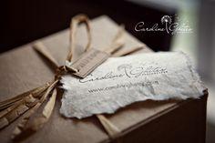 Hand written tag, simple raffia bow