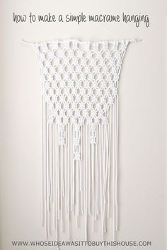 Want to try to make a macrame wall hanging? This is the simplest ever beginner macrame project.