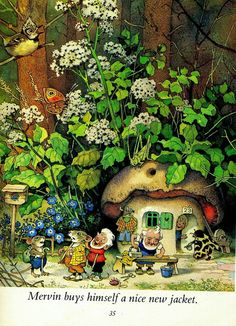 """""""Nicky and His Forest Friends"""" by Marilyn Nickson and illustrated by Fritz Baumgarten Baumgarten, Elves And Fairies, Forest Friends, Woodland Creatures, Fairy Art, Children's Book Illustration, Book Illustrations, Faeries, Illustrators"""
