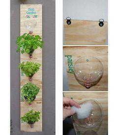 Você que sempre quis ter ervas frescas em casa, use essa ideia reciclável embeleze sua área e tenha seus temperos a qualquer hora