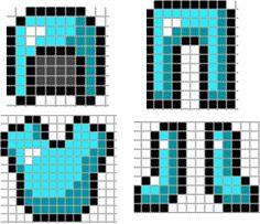 Armadura de Minecraft Plantilla (Cambiar Color/Material)