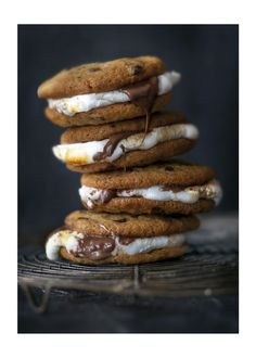 Cookie base classic s'mores | BBC Good Food | Ever tried an American-style marshmallow s'more? It's a Bonfire Night-friendly stack of sweet joy, with cookies and chocolate spread thrown in for good measure