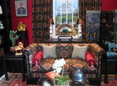 Asian-inspired Sitting Room  Susan J. Farnik Susan's Miniatures