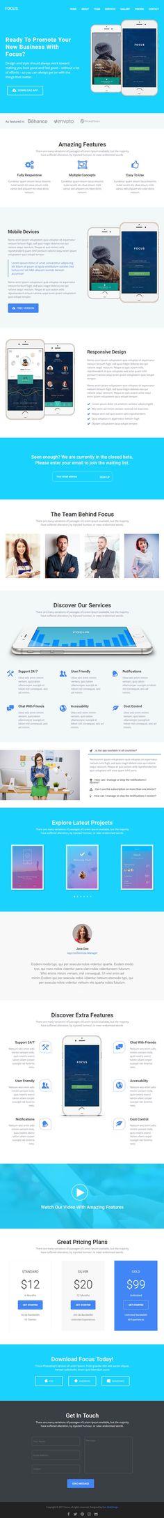 Focus High-Converting Landing Page WordPress Theme #bestof2017 #bestwordpressthemes #businessthemes #corporatethemes #wordpressthemes