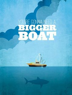 Jaws ~ Movie Quote Poster by Ryan McArthur Best Movie Posters, Famous Movie Quotes, Film Quotes, Quote Posters, 80s Posters, Funny Quotes, Pet Sematary, Jaws Movie Poster, Citations Film