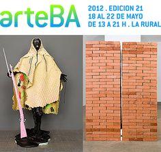 Inauguró arteBA 2012 // edición 21.  Más de 800 artistas en escena + arte 100% contemporáneo.  Cierra: 22 de mayo.   La Rural, Buenos Aires, Argentina.  Info+: www.arteba.org