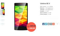 Find the best price for Ulefone BE X smartphone at gadgetiger.com