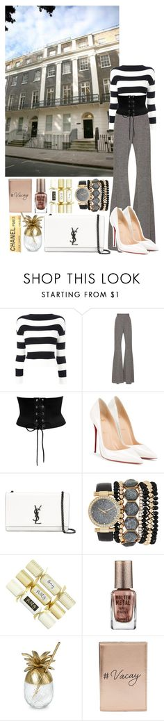Designer Clothes, Shoes & Bags for Women Barry M, Boutique Moschino, Miss Selfridge, Yves Saint Laurent, Christian Louboutin, Chanel, Black And White, Shoe Bag, Polyvore