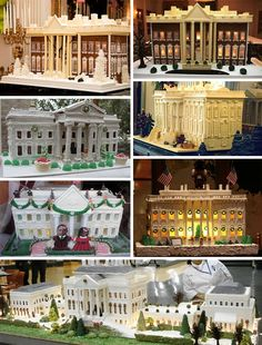 White House Gingerbread | Chefs across america often create replicas of the White House in gingerbread for regional celebrations and competitions.
