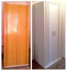 Everyone had such cabinets, tables and chairs / Life Design Refurbished Furniture, Diy Furniture, Tall Cabinet Storage, Locker Storage, Felt Decorations, Bedroom Wardrobe, Furniture Restoration, Jewellery Storage, Interior Styling