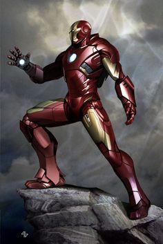 #Iron #Man #Fan #Art. (Concept art Mark VII, Iron Man, The Avengers) By: Adi Granov. (THE * 5 * STAR * AWARD * OF * ÅWESOMENESS!!!™)