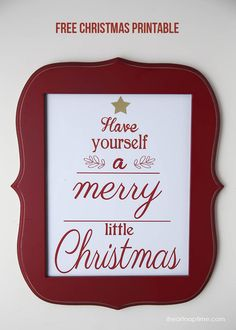 Have yourself a Merry little Christmas free printable on iheartnaptime.com ... easy piece of decor or gift idea! #Christmas #printables