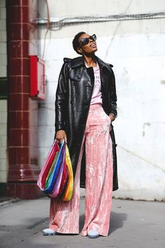 The Best Street Style At London Fashion Week SS18 #refinery29 http://www.refinery29.uk/2017/09/170850/street-style-london-fashion-week-ss18#slide-4