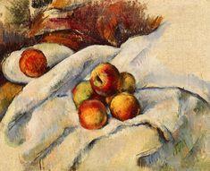 cezanne, apples on a sheet