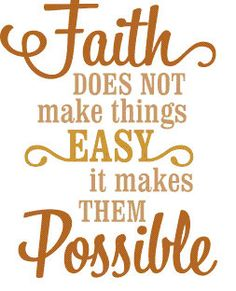 Faith Does Not Make Things Easy Wall Decal on Etsy, $12.00