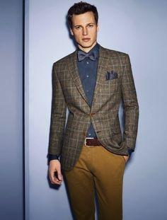 Plaid jacket. More on jacket patterns @ http://www.moderngentlemanmagazine.com/mens-suit-patterns/