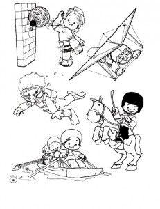 Deportes. Fichas para imprimir y colorear Sport English, Back To School Worksheets, Finger Plays, Cartoon Tattoos, Digital Stamps, Coloring For Kids, Coloring Sheets, Colorful Pictures, Teaching Kids