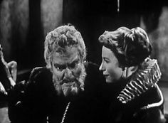 Orson Welles and Natasha Perry in a 1953 Peter Brooks t.v. production of King Lear.