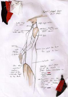 Fashion Sketchbook - fashion design sketch & fabric swatches // Thidarat Kaha