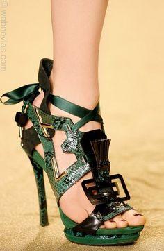 Louis Vuitton green High Heels Sandal #LV #Shoes #Heels