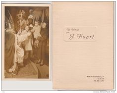 Carte Photo Saint Nicolas- Père Fouettard   Jumet  1950 - Personnages
