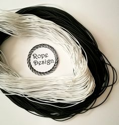 Round elastic cord, 1 mm, Black/White Elastic drawcord, Sewing supplies, Elastic rubber, Round stretch cord, DIY face mask Soft elastic rope