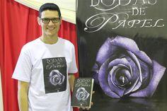 O livro Bodas de Papel e o escritor Daniel Moraes em Bragança Paulista - SP