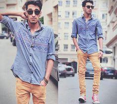 mens fashion, sunglasses, shirt, jean, pants
