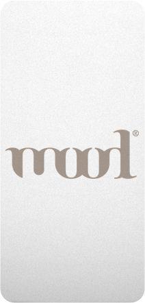Logotipo mood Es arbitraria porque no tiene nada icónico, no representa nada que exista en la realidad.