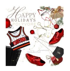 """""""Happy Holidays POLYVORE!"""" by julesdiaries ❤ liked on Polyvore featuring Jigsaw, HAY, Reiss, Moschino, Chloé and holiday"""