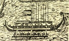 "This engraving depicts the Philippine ""karakoa"" war canoe which was also known in ancient times as ""lawig"" which means, ""voyage"" or ""fishhook."" The karakoa was a giant double outrigger that could carry over 100 individuals. Lawig is the root word for ""lumawig"" or ""Lumauig,"" the Philippine name for Maui. the engraving was made by C. Nicolas in 1601. Read more in my book, ""The Forgotten Children of Maui"" available through Amazon.com"