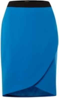 A stylish wrap pencil skirt is a great way to update your wardrobe. Add a splash of color to your work wear with this skirt.