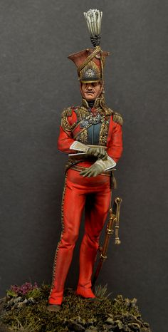 France Officer, Regiment, Lancers of the Guard (Red Lancers, or Dutch Lancers) Military Figures, Military Art, Military Fashion, Military Uniforms, Empire, Bataille De Waterloo, Battle Of Waterloo, Military Modelling, French Army