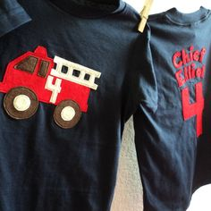 Personalized FIRETRUCK shirt Boys Birthday  3rd by ThePeachyOwl, $26.00