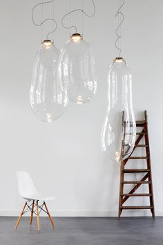 Pendant Lights Made From Blown Glass