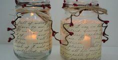 Mason Jar Christmas Crafts | Holiday Crafts With Mason Jars | Stylish Candle Crafts | ... | Decora ...