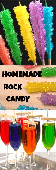 Know a budding scientist with a sweet tooth? It's easy for you and your kids to grow a rainbow of homemade rock candy crystals — all you need is a little kitchen chemistry.
