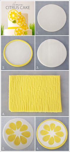 LEMON CITRUS CAKE decorations and recipe