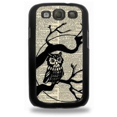 Vintage Owl On Tree Samsung Galaxy S3 Case - Hard Plastic Cell Phone Case